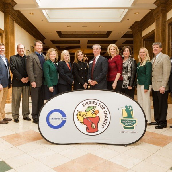 Century Club Charities leadership and beneficiaries of the Birdies for Charity Program